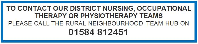CONTACT THE DISTRICT NURSES